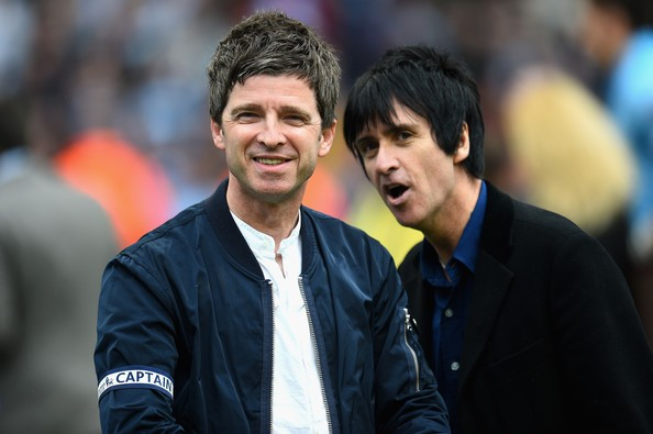 Johnny Marr with Noel Gallagher