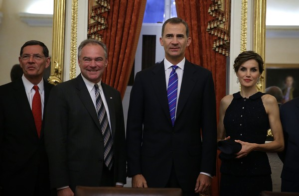 Tim Kaine, John Barrasso meets with King Felipe VI and Queen Letizia