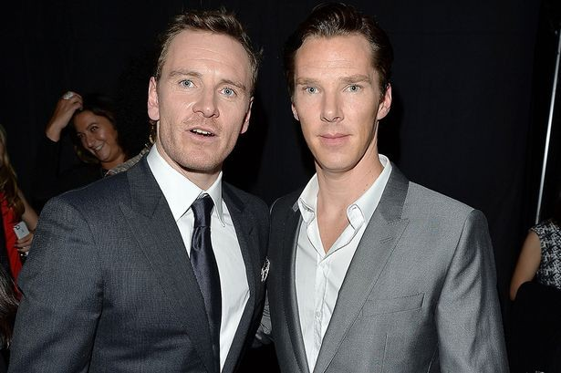 Benedict Cumberbatch with Michael Fassbender
