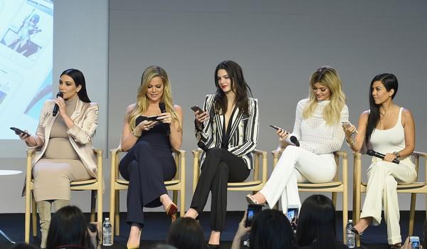 Kim Kardashian, Kourtney Kardashian, Khloe Kardashian, Kendall Jenner with Kylie Jenner