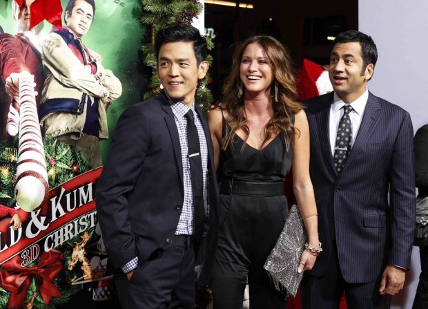 John Cho, Danneel Harris With Kal Penn