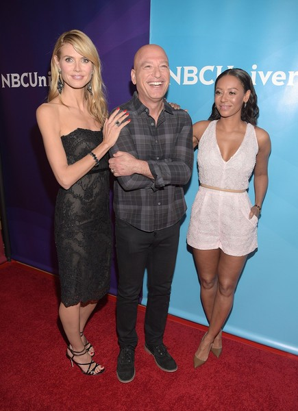 Heidi Klum, Melanie Brown with Howie Mandel