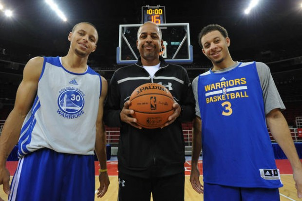 Del, Stephen with Seth Curry