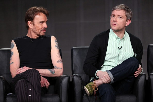 Billy Bob Thornton with Martin Freeman