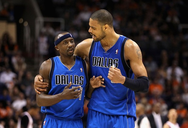 Jason Terry with Tyson Chandler