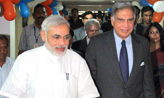 Ratan Tata With Narendra Modi