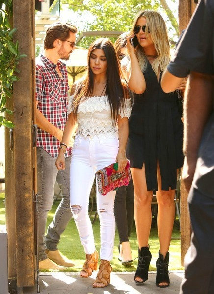 Kourtney Kardashian, Khloe Kardashian with Scott Disick