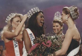 Kenya Moore Celebrations After Winning Miss USA