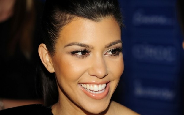 Kourtney Kardashian Face In Closeup