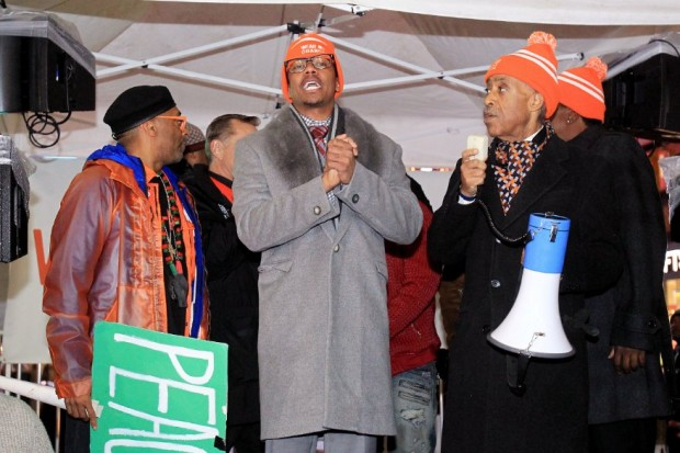 Spike Lee, Nick Cannon And Al Sharpton