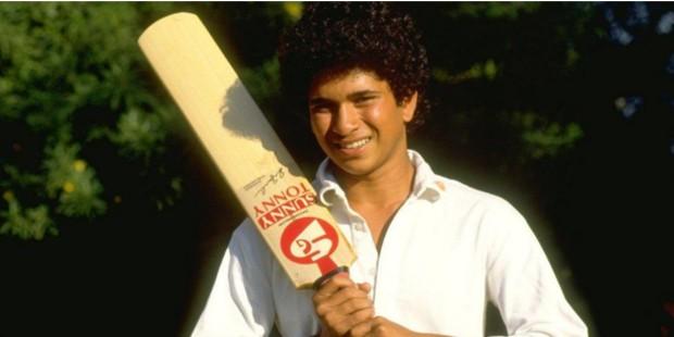 Sachin Tendulkar in a Under 16 Match