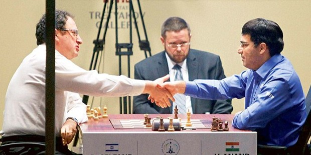 Viswanathan Anand Playing With Boris Gelfand