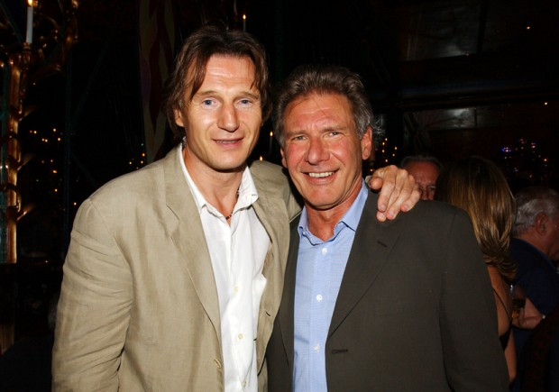 Harrison with Liam Neeson