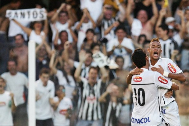 Neymar while Playing for Santos FC