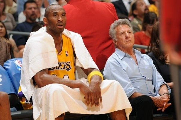 Kobe with Hollywood Actor Dustin Hoffman