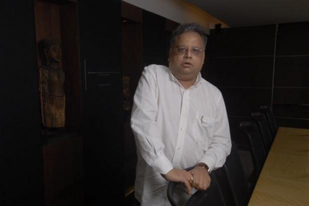 Rakesh Jhunjhunwala at His Cabin