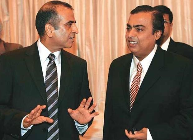 Sunil Mittal with Mukesh Ambani