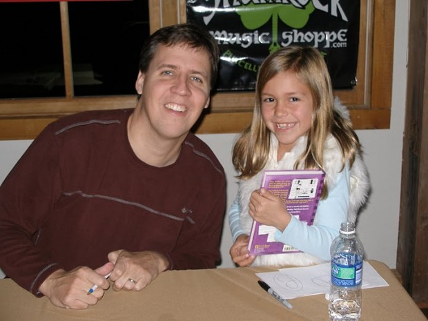 Jeff Kinney with His Kid Fan