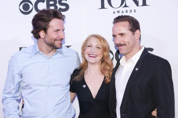 Bradley Cooper with Alessandro Nivola and Patricia Clarkson at Tony Awards