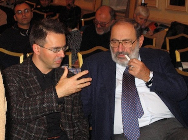 Umberto Eco With Kristian Bankov