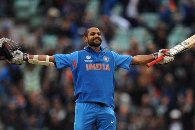 Shikhar Dhawan made 102 against West Indies