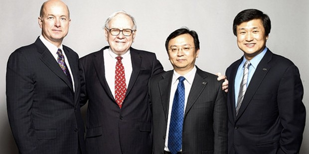 Wang Chuanfu with Business Tycoons