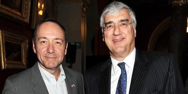 Sir Michael Hintze with actor Kevin Spacey
