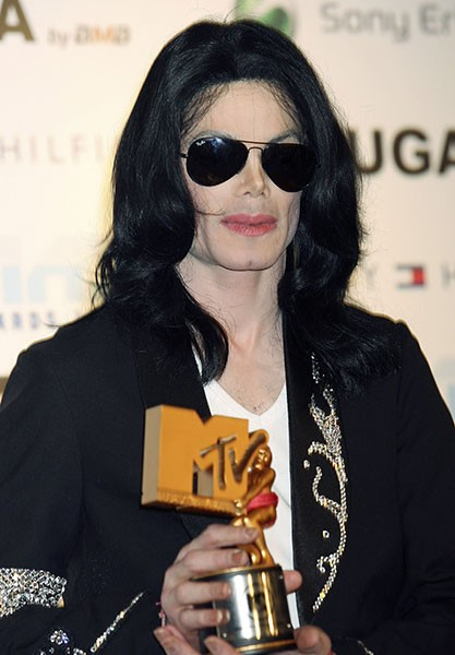 Michael Jackson Receiving MTV Music Award