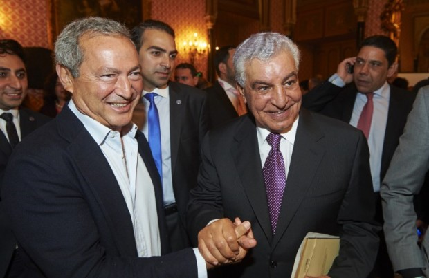 Dr Zahi with Samih Sawiris