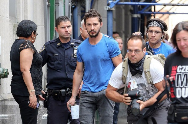 Shia LaBeouf escorted by Police in New York City