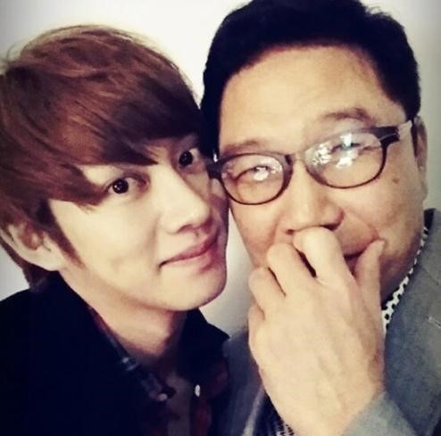 super junior heechul picture with lee soo man