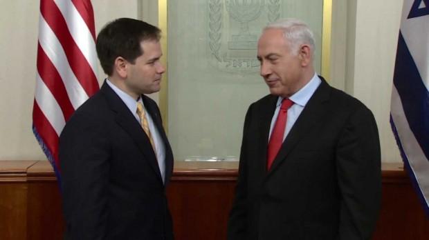 Prime Minister Benjamin Netanyahu meets with Senator Marco Rubio