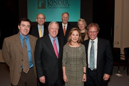 Dr. Michael Emerson, Richard Kinder, Nancy Kinder, Dr. Stephen Klineberg At Kinder Institute