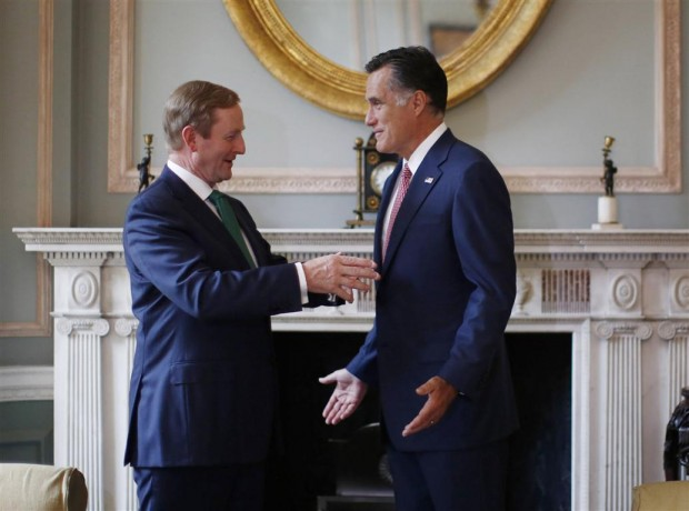 US Republican Presidential candidate Mitt Romney meets with Irish Prime Minister Enda Kenny