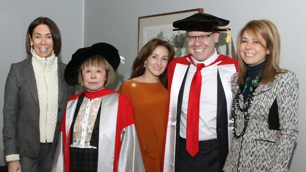 Anthony Pratt receives his doctorate With Fiona Geminder