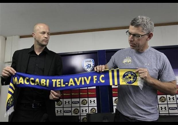 Mitchell Goldhar With Jordi Cruyff Displaying Banner