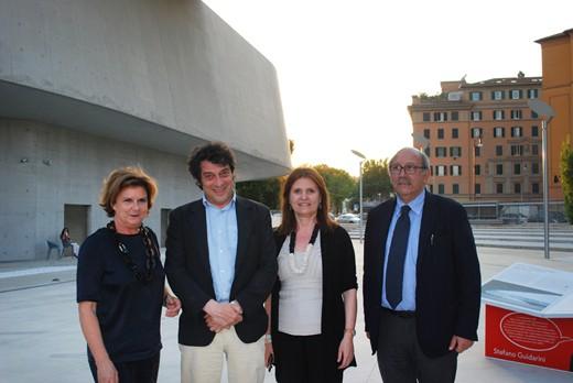 Director of MAXXI Art, Anna Mattirolo; the writer, Sandro Veronesi; Director of MAXXI Architecture, Margherita Guccione