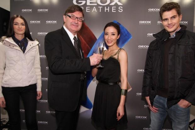 Geox founder Mario Moretti Polegato and Tavia Yeung Yi