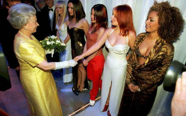 Victoria Beckham Memorably Met the Queen with the Spice Girls