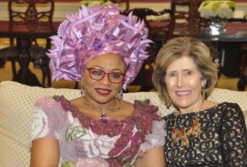 Folorunsho Alakija with mother of renowned pastor, Dodie Osteen