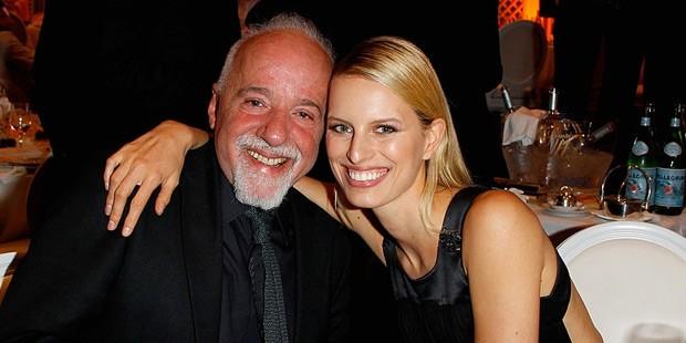 Paulo Coelho with Karolina Kurkova