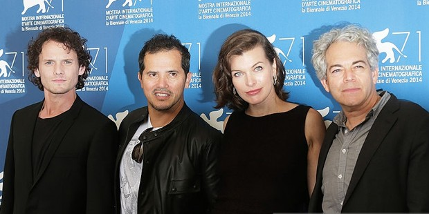 Actors Anton Yelchin, John Leguizamo, Milla Jovovich and director Michael Almereyda