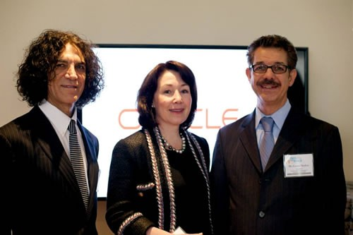 Dr. Camran Nezhat(R) With Ms. Safra Catz