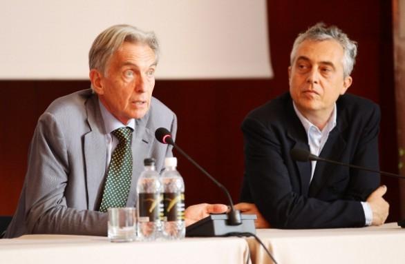 Giuliano Pisapia With Stefano Boeri