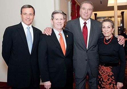 Bob Iger, Walt Disney Family Museum executive director. Richard Benefield, Ron Miller With Diane Disney Miller