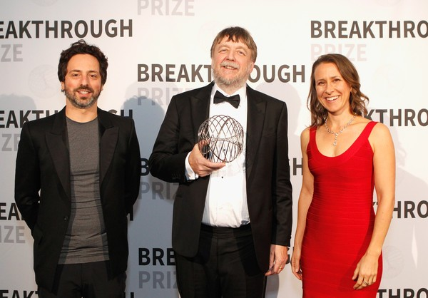 Sergey Brin, Anne Wojcicki with John Hardy