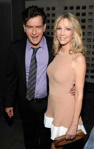 Charlie Sheen with Heather Locklear