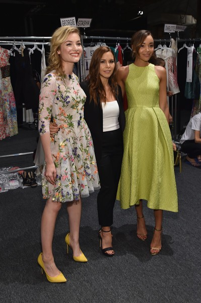 Monique Lhuillier, Gillian Jacobs with Jamie Chung