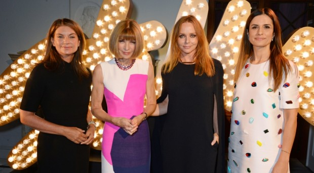Natalie Massenet, Anna Wintour, Stella McCartney with Livia Firth