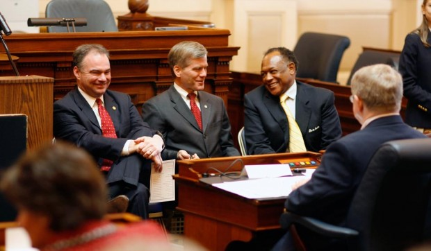 Governor Tim Kaine, Attorney General Bob McDonnell, and Richmond Mayor-elect Dwight Jones